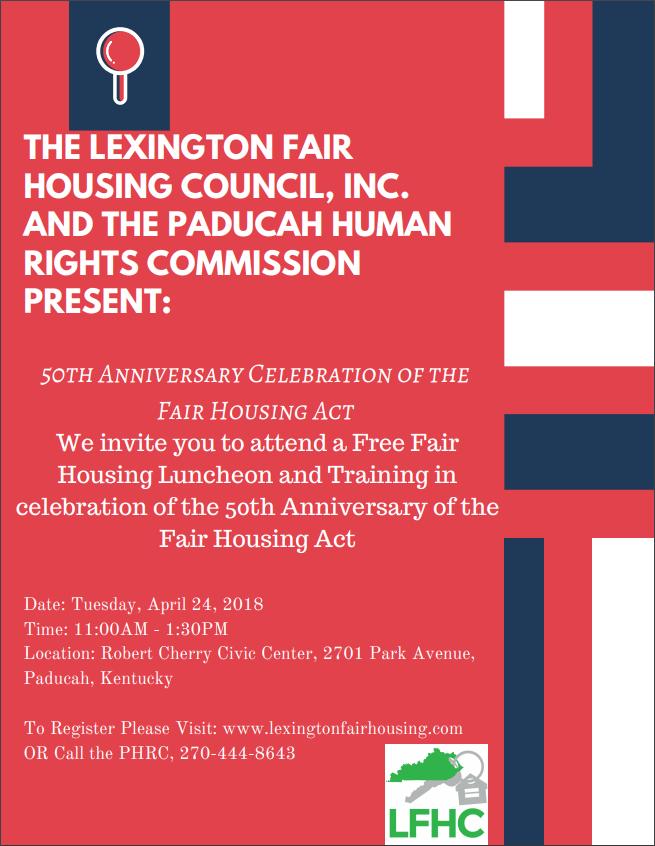 Fair Housing Training in PADUCAH, KY – Lexington Fair Housing Council